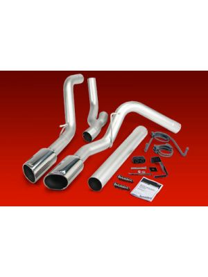 Banks Monster Exhaust Duals with Quad Tips for 2007.5-09 Cummins